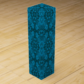Black & Blue Vintage Kaleidoscope Wine Gift Box