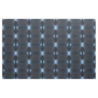 Black Blue White Abstract Geometric Pattern Fabric
