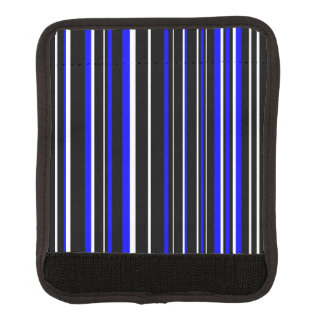 Black, Blue, White Barcode Stripe Luggage Handle Wrap