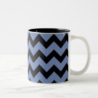 Black & Blue Zig Zag Mug