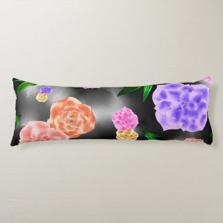 Black Blush Rose Body Pillow