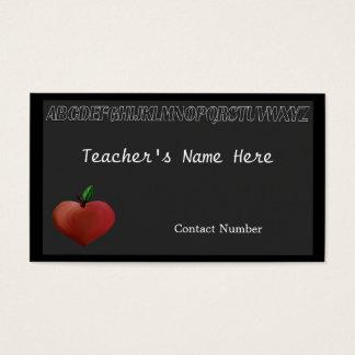 Black Board Teacher's Business Card