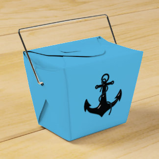 Black Boat Anchor Favor Box