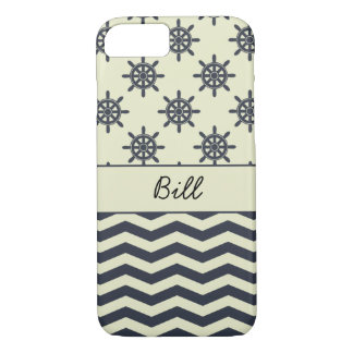 Black Boat Steering Wheels and Chevrons iPhone 7 Case