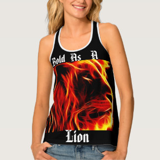 Black Bold as a lion tant top. Tank Top