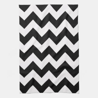Black Bold Chevron Kitchen Towels