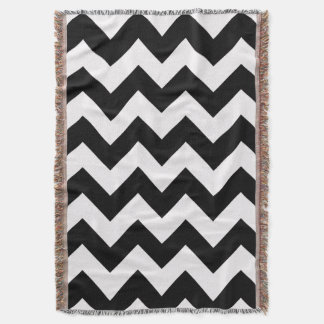 Black Bold Chevron Throw Blanket