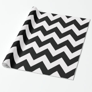 Black Bold Chevron Wrapping Paper