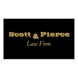 Black Bold Gold Letters Attorneys Business Card