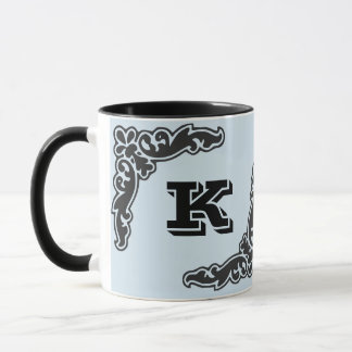 Black Bold Initial Coffee Mug
