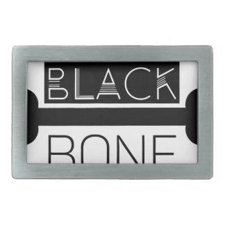 BLACK_BONE RECTANGULAR BELT BUCKLES