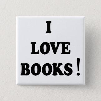 """Black Books """"I Love Books"""" Button"""