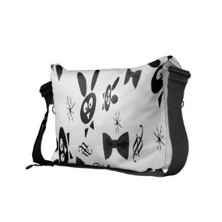 BLACK BOW BUNNY COURIER BAGS