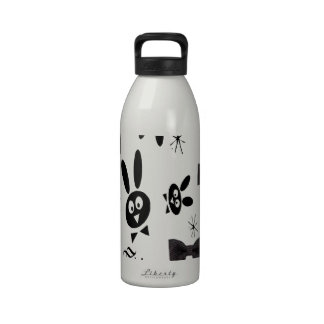 BLACK BOW BUNNY DRINKING BOTTLE