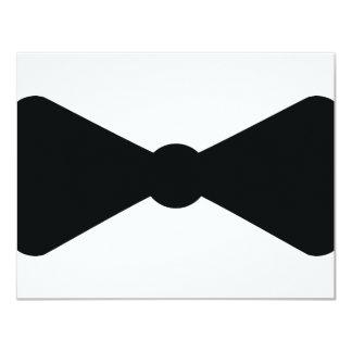 """black bow tie icon 4.25"""" x 5.5"""" invitation card"""