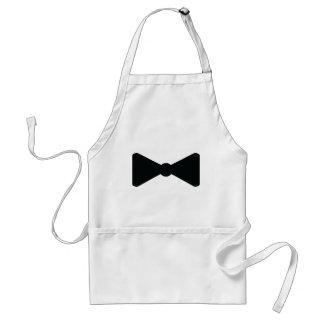 black bow tie icon standard apron