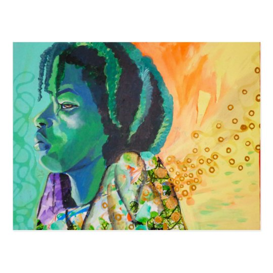 Black Boy Dreaming Postcard