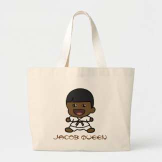 Black Boy's Karate Tote Bag