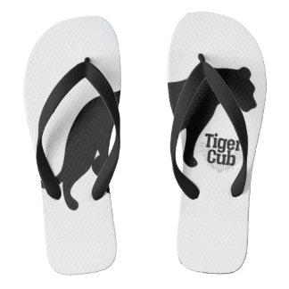 Black Branded Flippon Flip Flops