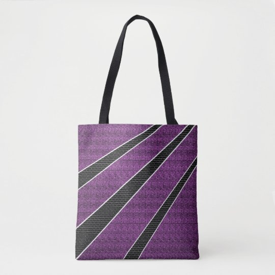 Black brick tote bag