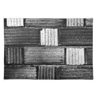Black Bricks Placemats