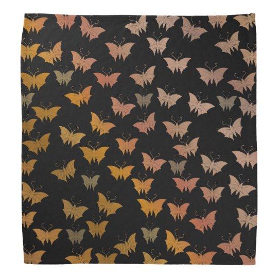 black bright, shiny, butterflies, exclusive bandana