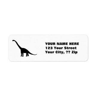 Black Brontosaurus | Dinosaur Shadow Dino