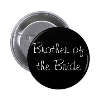 Black Brother of the Bride Pin