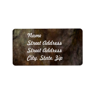 Black & Brown Abstract Fractal Address Sticker