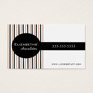 Black & Brown Chocolates Homemade Business Card