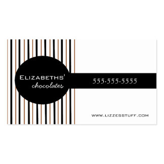 Black & Brown Chocolates Homemade Pack Of Standard Business Cards