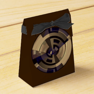 Black Brown Graphic accent Black Bow Favor Box