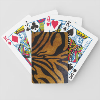 Black & Brown Tiger Pattern Design Bicycle Playing Cards