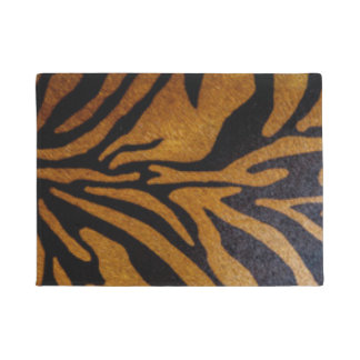 Black & Brown Tiger Pattern Design Doormat