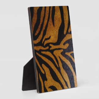 Black & Brown Tiger Pattern Design Plaque