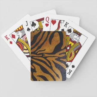 Black & Brown Tiger Pattern Design Playing Cards