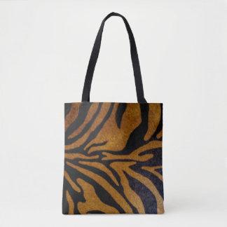 Black & Brown Tiger Pattern Design Tote Bag