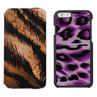 Black Brown Zebra Pattern Photo Print Incipio Watson™ iPhone 6 Wallet Case