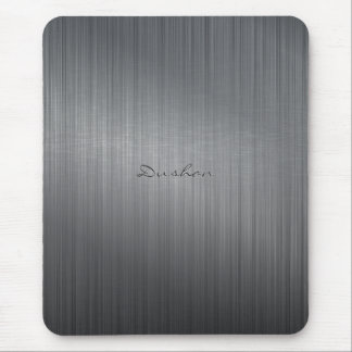 Black Brushed Metal iMouse Pad Mouse Pad