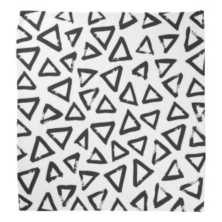 Black Brushstroke Triangel Pattern, Nordic Design Bandana