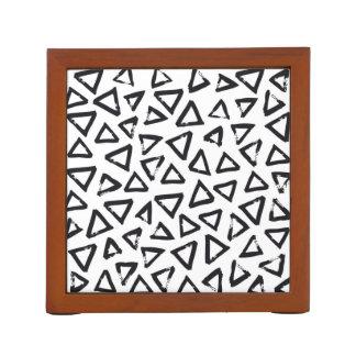 Black Brushstroke Triangel Pattern, Nordic Design Desk Organizer
