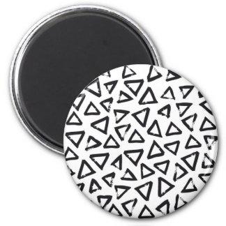 Black Brushstroke Triangel Pattern, Nordic Design Magnet