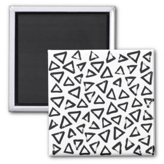 Black Brushstroke Triangel Pattern, Nordic Design Magnet