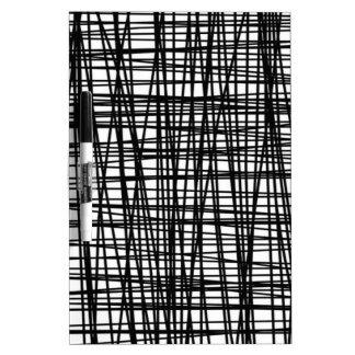 Black Brushstroke Watercolor Stripes Dry-Erase Board