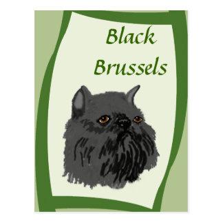 Black Brussels Griffon Postcard