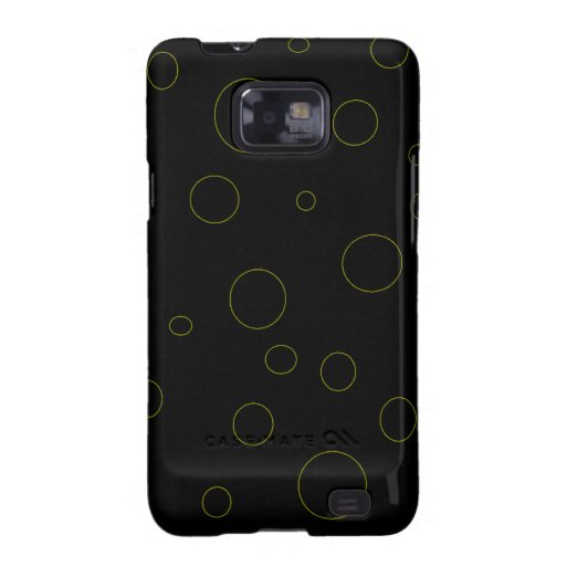 Black Bubbles Urban Modern Samsung Galaxy S2 Cases