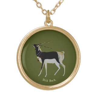 Black Buck Gold Plated Necklace