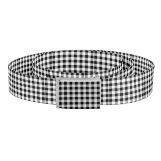 Black Buffalo Plaid Belt
