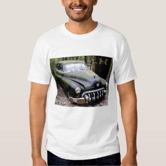 Black Buick  Car with Moss Shirt