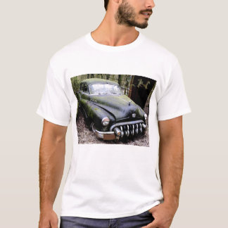 Black Buick  Car with Moss T-Shirt